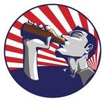 Patriotic beer drinking propaganda