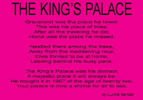 ENTERTAINMENT/POP CULTURE/THE KING'S PALACE