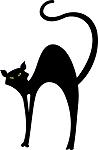 Retro Black Cat