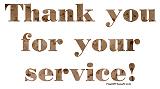 Desert Camo Serviceman Thank You