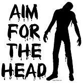 Aim For The Head Zombie Shirts