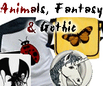 Cute Animals, Fantasy & Gothic Tees