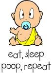 Eat, Sleep, Poop, Repeat