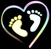 Sweet Baby Feet in Heart