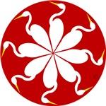 Heron Red Swirl