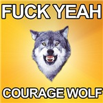 yeah courage wolf