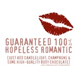 100% Hopeless Romantic T-shirts & Gifts