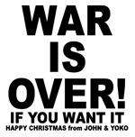 war is over merry christmas.