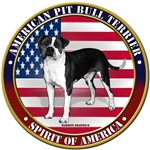 patriotic american pit bull terrier