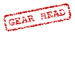 Gear Head. Funny red stamp for mechanic