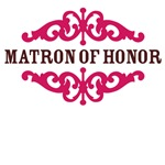 Matron of Honor (Hot Pink and Chocolate Brown)