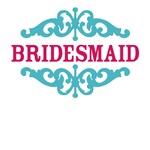 Bridesmaid (Hot Pink and Tiffany Blue)
