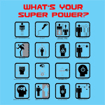What's Your Superpower? t-shirts for sci-fi and comic book fans! Wear itto the next comic convention and turn heads.