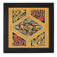 Ceramic Tile Boxes (Mahogany or Black)