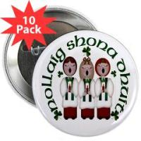 Christmas Button Pins & Round Magnets