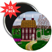 Country Village Series© Pins & Magnets