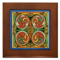 Cherrywood Framed Tile Wall Art!