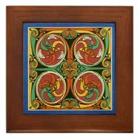 Cherrywood Framed Tile Wall Art!