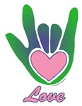 Green/Pink Love Hand