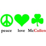 peace love McCullen - Shamrock