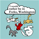 raining cats & dogs in forks