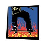 Skateboarding Flames Design