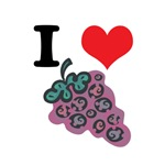 I Heart (Love) Purple Grapes
