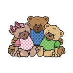 Cute Country Bear Family