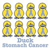 Stomach Cancer Awareness Ribbon Ducks
