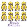 Cancer Awareness Ribbon Ducks
