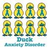 Anxiety Disorder Awareness Ribbon Ducks