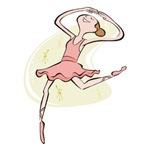 Retro Ballerina Girl