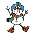 Silly Cowboy Snowman