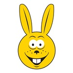 Bunny Rabbit Smiley Face