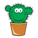 Cute Cactus Smiley Face