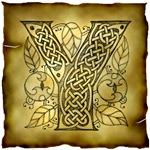 Celtic Knotwork Letter Y