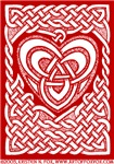 Celtic Knotwork Heart Illustration - Red