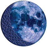 Celtic Knotwork Blue Moon