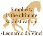 da Vinci simplicity - quote with horse