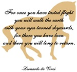 da Vinci flight saying with horse