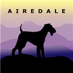 Airedale Terrier Dog Purple Mountains