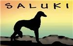 Saluki Dog Desert