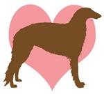 Borzoi Dog Heart