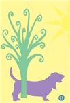 Basset Hound Tree & Ball