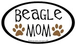 Beagle Mom Oval