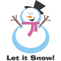 Let it Snow Snowman T-Shirts Gifts