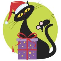 Retro Christmas Kitty T-Shirts Gifts