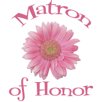 Matron of Honor Wedding Apparel Gerber Daisy Pink