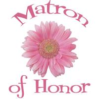 Matron of Honor Wedding Apparel Gerber Daisy Pink