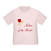Wedding Party Red Rose Sister of the Bride T Shirt